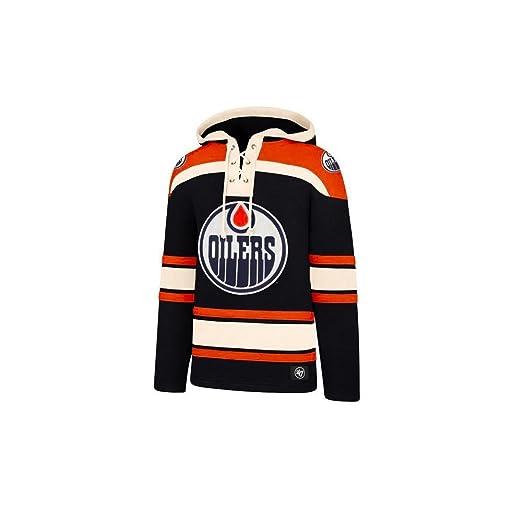 47 Brand NHL Edmonton Oilers Lacer Hoody Jersey Trickot Kapuzenpullover Forty Seven