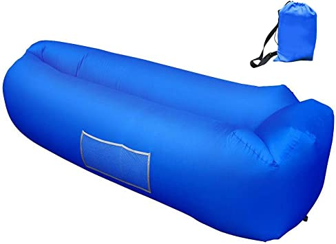 Amazon.com: Tumbona inflable, hamaca inflable con bolsillo ...