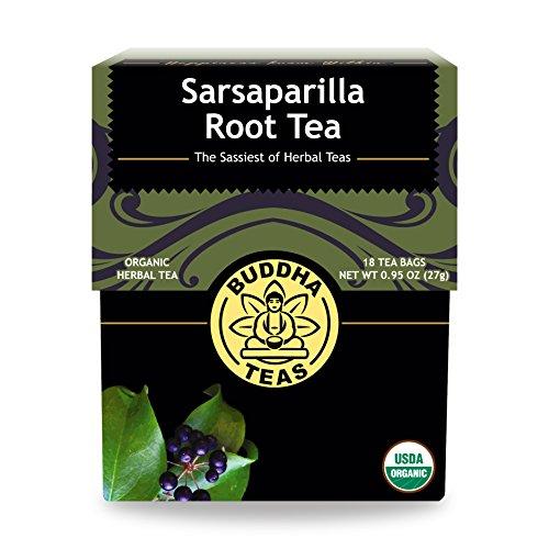 Organic Sarsaparilla Tea - Kosher, Caffeine-Free, GMO-Free - 18 Bleach-Free Tea Bags (Root Jamaican Sarsaparilla)