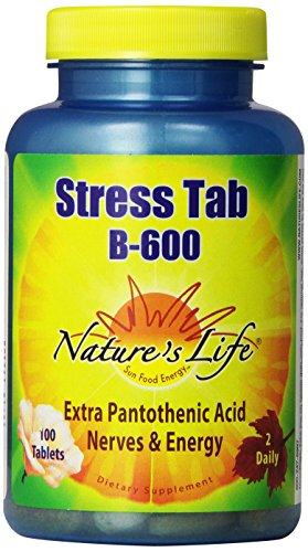 Nature's Life Stress Tabs B-600 Tablets, 100 Count