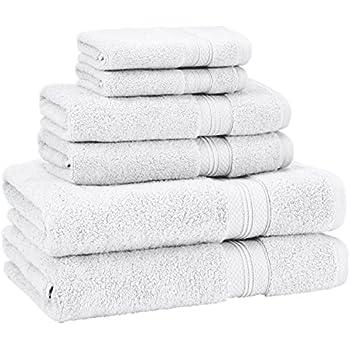 Pinzon Low Twist Pima Cotton 650 Gram 6 Piece Towel Set White