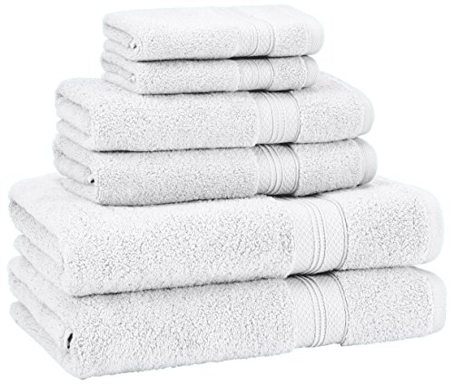 Pinzon 6 Piece Pima Cotton Bath Towel Set - White