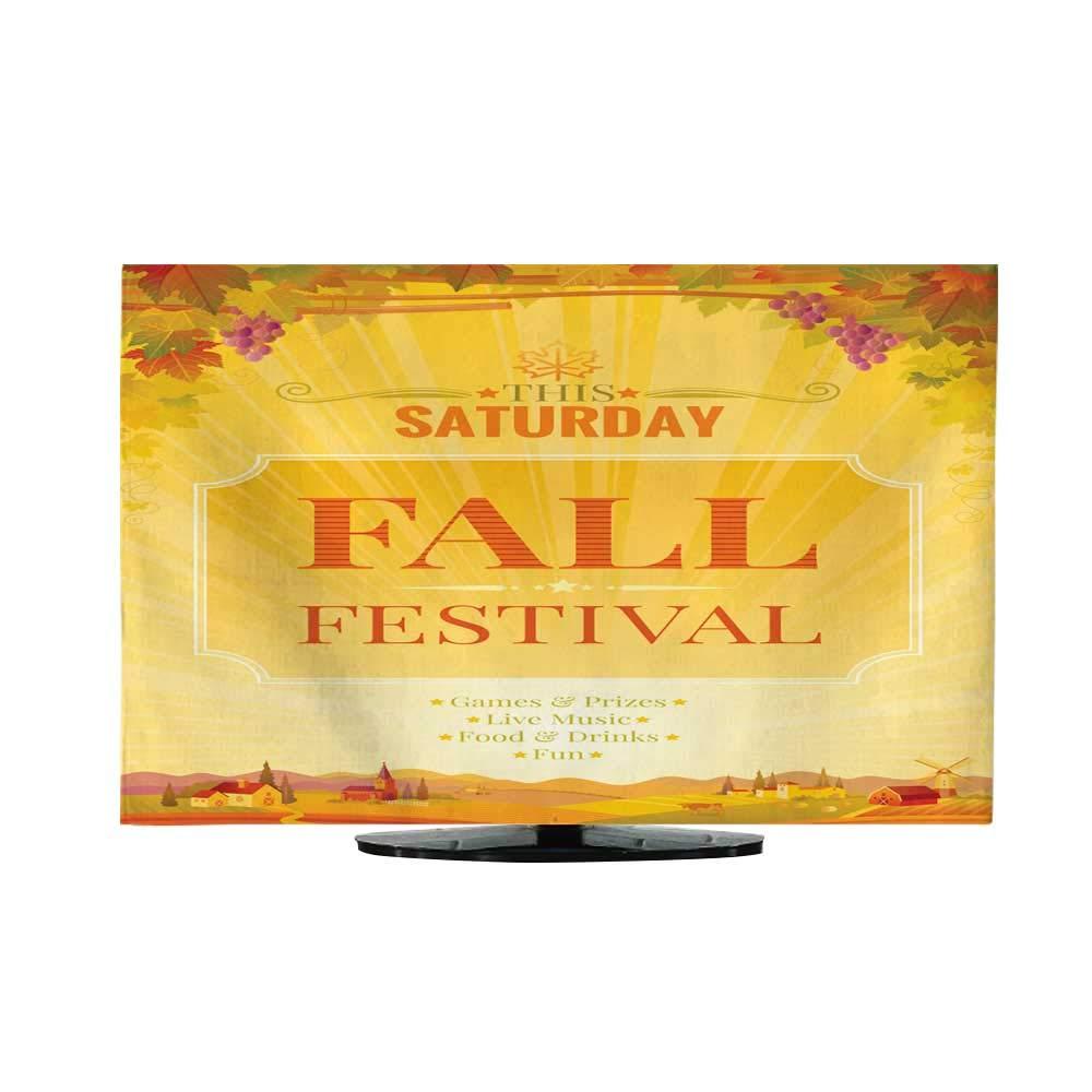 テレビ防塵カバー ハーベストフェスティバル 収穫 果物と野菜 秋のコレクション エレメント30/32 47
