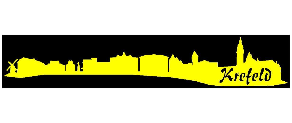 Samunshi® Aufkleber Krefeld Skyline Autoaufkleber in 9 9 9 Größen und 25 Farben (140x25cm kupfermetalleffekt) B007JFPEFA | Sonderangebot  511203