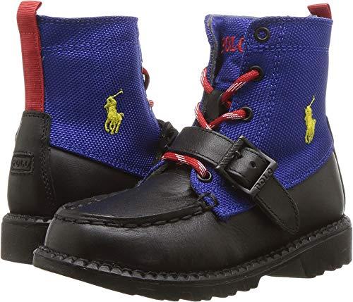 Polo Ralph Lauren Kids Unisex Ranger Hi II (Toddler) Black/Royal 10 M US Toddler - Ralph Boots Polo Lauren Toddler