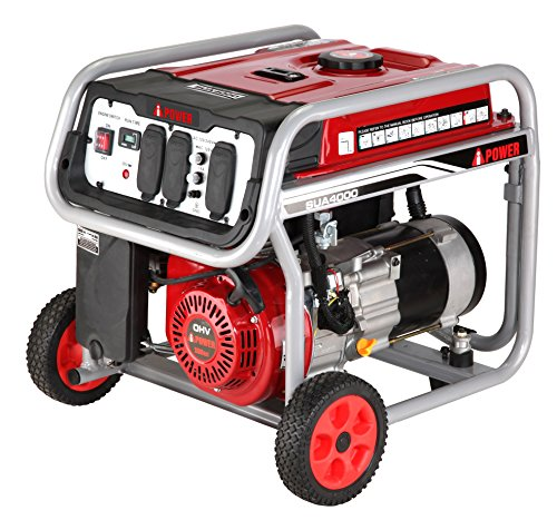 A-iPower SUA4500 4,500-Watt Gasoline Powered Portable Generator Wheel Kit Included