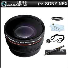 Wide Angle Lens Kit For Sony NEX-F3, NEX-7, NEX-5N, NEX-5, NEX-5R, NEX-3, NEX-C3 Interchangeable Lens Camera (That Use E-Mount 18-55mm, 30mm, 16mm, 24mm, 55-210mm, 50mm Lenses) + LensPen Cleaning Kit