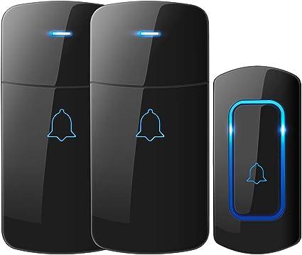 Wireless Doorbell, NOVETE 1300ft Long Range Door Chime, IP55 Waterproof Electric Cordless Doorbell,