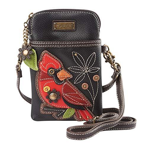 - Chala Crossbody Cell Phone Purse-Women PU Leather Multicolor Handbag with Adjustable Strap - Cardinal Black