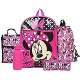 Ralme Disney Minnie Mouse Pink Backpack Back to School 5 Piece Essentials Set