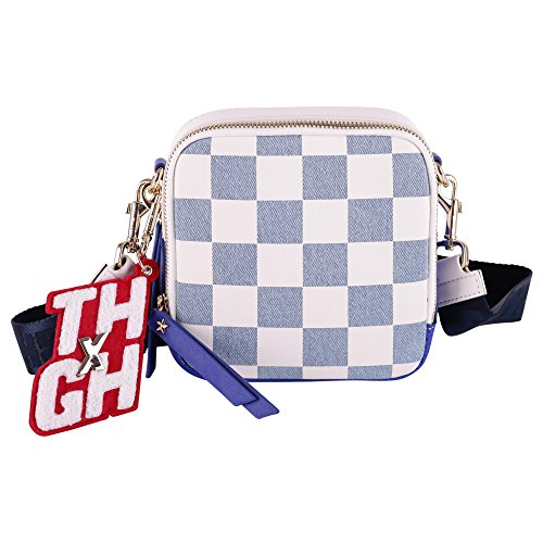 Tommy X Gigi Women's Aw0aw05295901 Light Blue/White Cotton Shoulder Bag by TOMMY X GIGI