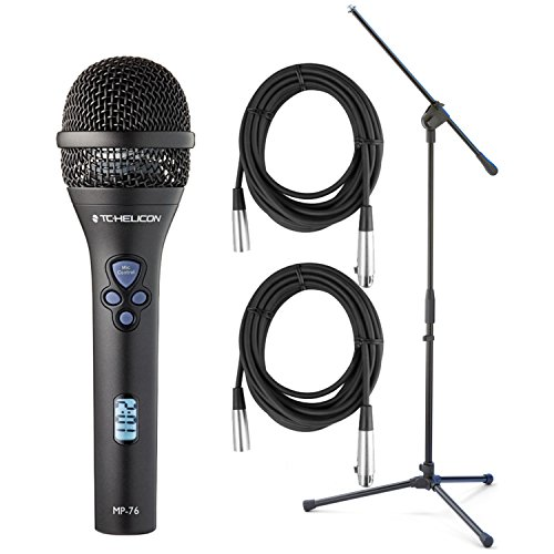 TC-Helicon MP-76 Microphone w/ Mic Stand and (2) 20' XLR Cables ? by TC Electronic