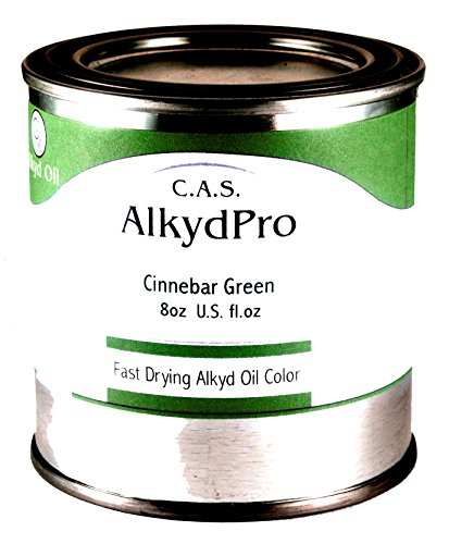 C.A.S. Paints AlkydPro Fast-Drying Oil Color Paint Can, 8-Ounce, Cinnabar Green