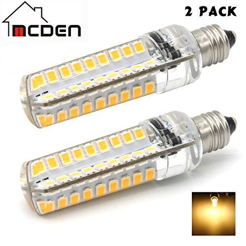 McDen E11 Base JD T4 bulb 50W 40W Light Bulb,Dimmable LED Mini Candelabra Bulb,120 volt,400LM,Clear Light Bulb (Pack