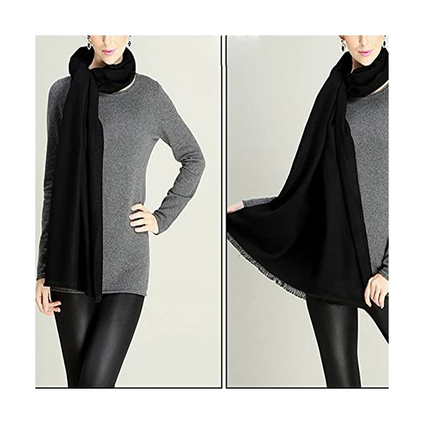 YAOYUE-US Luxurious Large Thick Solid Color Scarves Shawl Soft Pashmina Mulberry Silk Blended Wrap For Womens