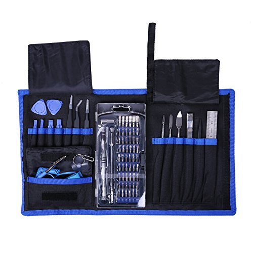 HDE Electronics Repair Kit Portable 76-in-1 Screwdriver Set with 56 Precision Bits and Bag for Tablets/Consoles/Smart Devices/Computers Professional Electronics Repair Set
