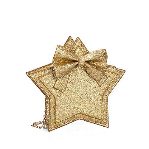 Little Girls Glitter Sequins Crossbody Purse Star-Shaped Bowknot Shoulder Bag Satchel