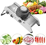 Elfhao Manual Stainless Steel Vegetable Cutter Mandoline Slicer Onion Potato Cutter Carrot Grater Julienne Fruit Vegetable Tools Kitchen Accessories