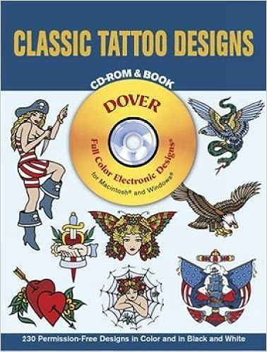 7ad012beb Classic Tattoo Designs CD-ROM and Book (Dover Electronic Clip Art): Eric  Gottesman: 0800759995929: Amazon.com: Books