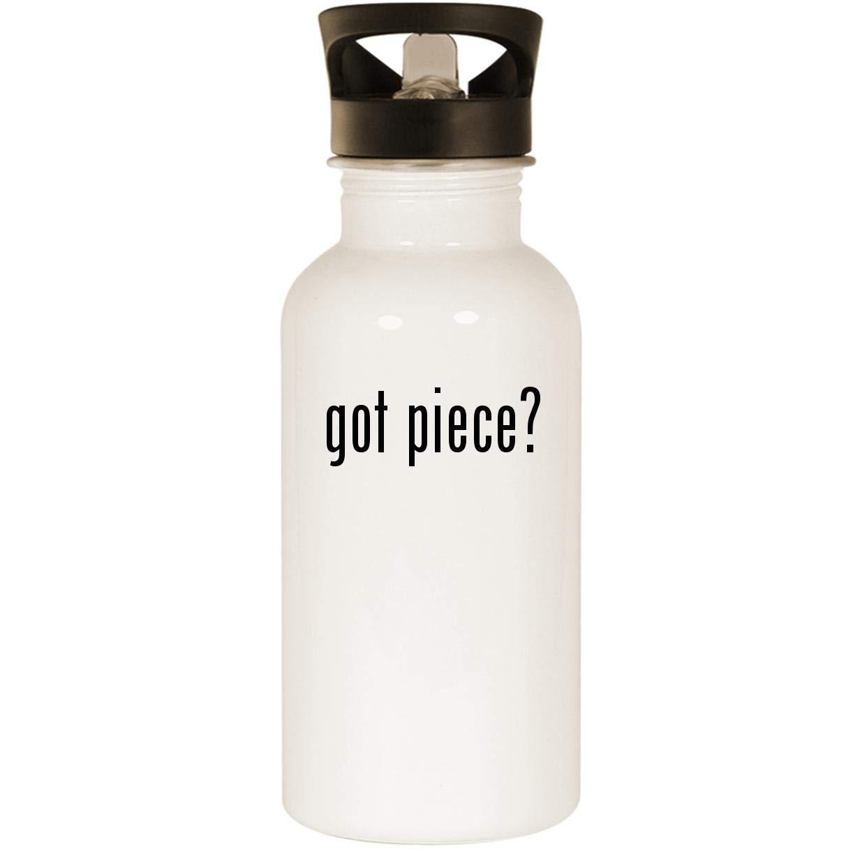 got piece? - Stainless Steel 20oz Road Ready Water Bottle, White