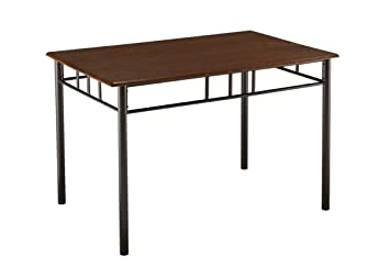 Kings Brand Metal Frame With Cherry Finish Wood Top Dining Room Kitchen Table