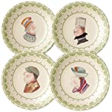 Pfaltzgraff Circle of Kindness Topsy Turvy Set of Four 6 1/4-Inch Plates