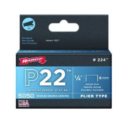 Arrow Fastener Co. 224 1/4 P22 Staples