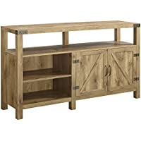 New 58 Inch Wide Barndoor Highboy Television Stand in Barnwood Finish