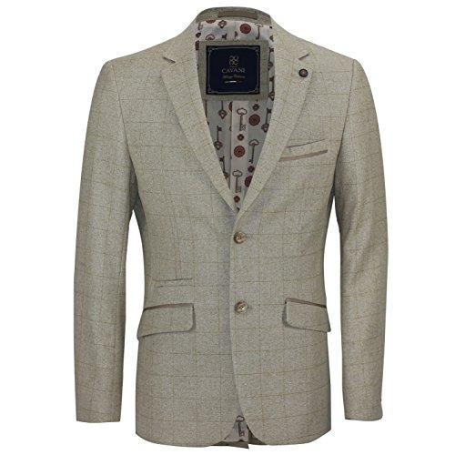 Cavani Veste de New Vintage Smart Casual en chêne Marron clair Grand Carreaux slim fit Conçu pour blazer pour femme