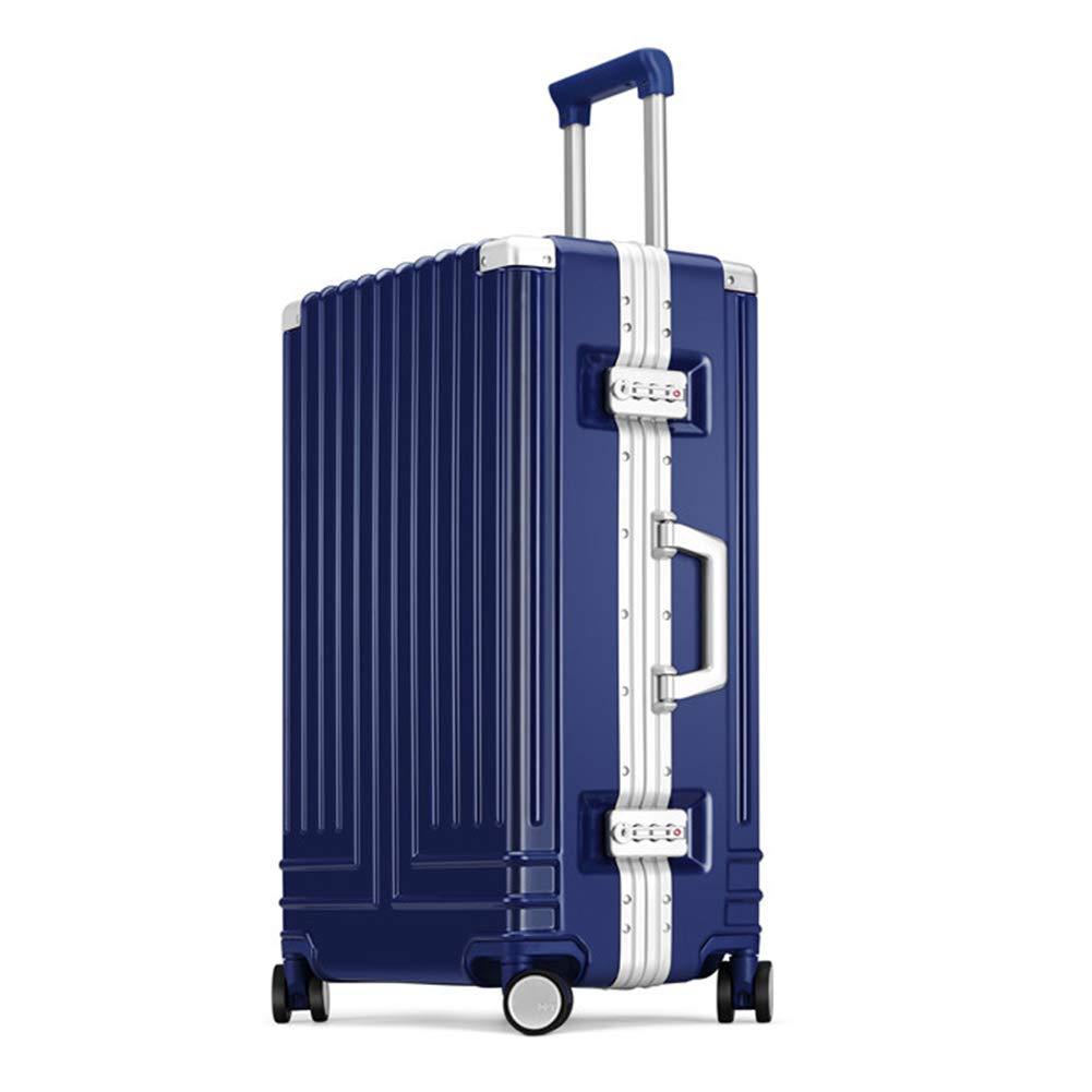 Valise Trolley /à Cadre en Aluminium Valise Trolley Valise /à Roue Universelle Valise /à Angle Droit Valise pour Homme embarquement dans Une bo/îte pour Le Mot de Passe f/éminin -Trolley Case