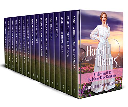 16 Clean and Wholesome Mail Order Bride Romances In One Heartwarming Box SetIf you enjoy sweet historical Western romance, you'll fall in love with Hopeful Hearts, a collection of 16 inspirational tales of courage and love by bestselling authors Char...