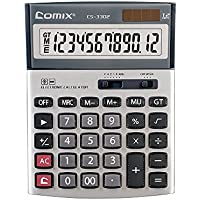 Comix CS-3302 Standard Function Desktop Calculator, 12 Digits, Keys with Cover