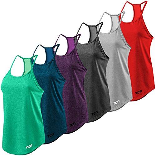 Women's TCA Switch-Up Reversible Workout Tank Sleeveless Vest Top - Midnight Blue XS