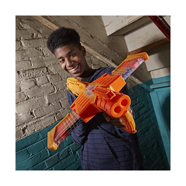 Double Dealer Nerf Doomlands Toy Blaster with Two 12-Dart Clips 24 Official Elite Darts Amazon Exclusive
