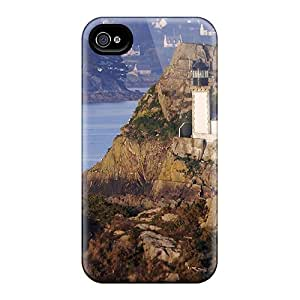YiU34816vOtc Lighthouse Tucked In A Rocky Isl Feeling Iphone 6 On Your Style Birthday Gift Covers Cases