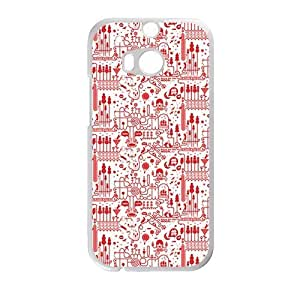 Cute Red personalized creative custom protective phone case for HTC M8