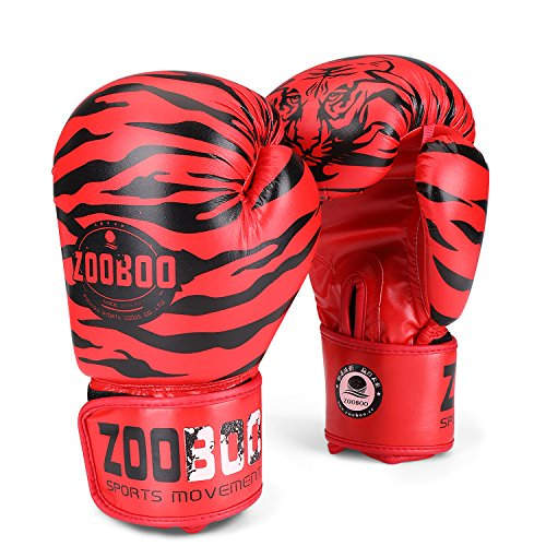 ring Training Gloves Pro Muay Thai Kickboxing Heavy Bag Punching Mitts Wrist Wrap Full Contact Combat Sport Protective Hand Gear Martial Art Supply For Women & Teens, 10Oz (Tiger) (Glove Shadow Box)