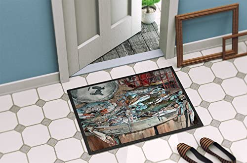 Caroline s Treasures 8961MAT Basket Full of Blue Crabs Indoor or Outdoor Mat 18×27, 18H X 27W, Multicolor
