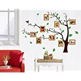 Decals Design 'Living Family Photo Tree' Wall Sticker (PVC Vinyl, 90 cm x 60 cm),Multicolour