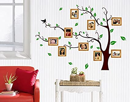 Decals Design U0027Living Family Photo Treeu0027 Wall Sticker (PVC Vinyl, 90 Cm