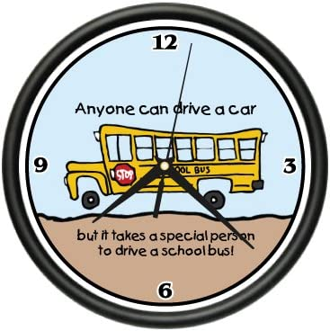 SignMission School Wall Clock Student Teacher New Gift, Beagle Dog pet Dogs Puppy Breeder, 1SCHOOL Bus Driver