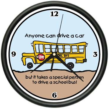 SCHOOL BUS DRIVER Wall Clock student teacher new gift