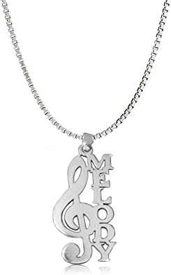 Ouslier 925 Sterling Silver Personalized Script Name Necklace Pendant Custom Made with Any Names