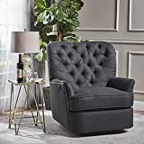 Solomon Tufted Fabric Power Recliner (Dark Charcoal) - Best Reviews Guide