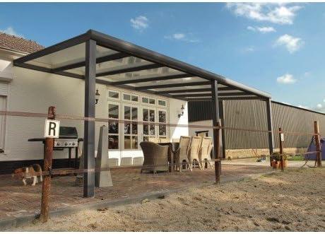Pergola Estrella Aluminum 6 X 3 M Dark Grey Amazon Co Uk Garden Outdoors