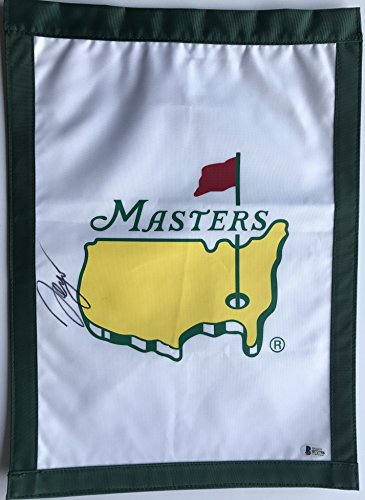 - Sergio Garcia Signed Masters Flag 2017 Masters champion