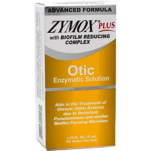 Zymox Plus Otic Enzymatic Solution with Biofilm Reducing Complex (1.25 oz) (Zymox Otic Enzymatic Solution For Pet Ears)
