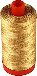 Aurifil Cotton Mako 50wt Creme Brule Variegated Thread Large Spool 1421 yard MK50 4150