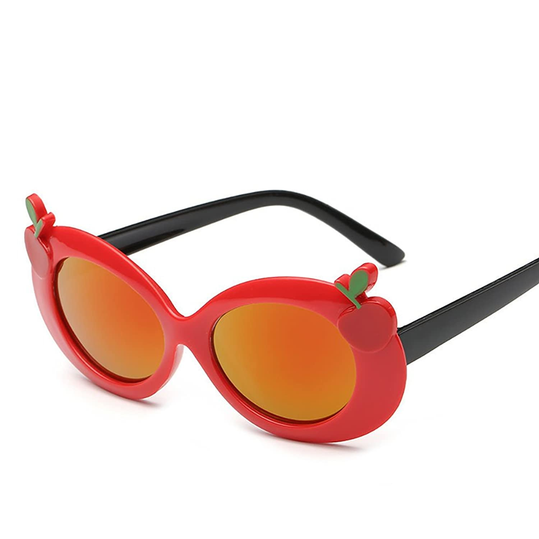 Child Sunglasses,NACOLA Kids Boys Girls Oval Cute Cherry UV Protection PC Frame Sun Glasses