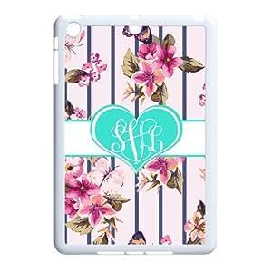 Zig Zag Pink roses heart-shaped pattern monogram Private Custom Ipad mini Best Cover Case